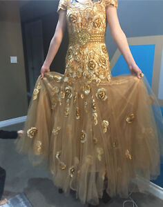 Beautiful golden dress