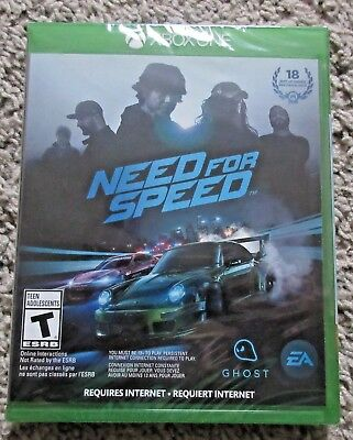 THE NEED FOR SPEED XBOX ONE BRAND NEW SEALED XBONE RACING  for sale  Evansville
