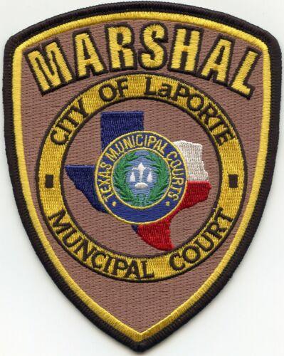 LaPORTE TEXAS TX MUNICIPAL COURT MARSHAL sheriff police PATCH