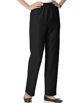 Alfred Dunner Women's Black Twill Casual Pants Size 10 Short Classics (J) Alfred Dunner Casual Pants