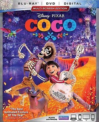 Disney Pixar Coco Blu Ray Dvd Digital New Unopened