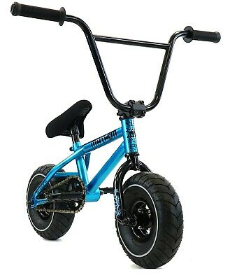 "Mayhem Riot Mini 10"" BMX Bicycle Freestyle Tire Bike Fat Boy Blue Haze"