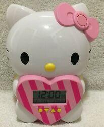 Seiko Sanrio Hello Kitty 7 Talking Digital Alarm Clock From Japan