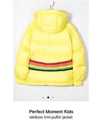 Perfect Moment Kids Girls Winter Ski Yellow Rainbow Jacket
