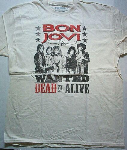 "Bon Jovi ""Wanted Dead Or Alive""  Mens 2x Unisex T-shirt - New"