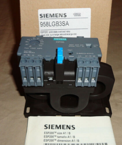 Siemens 958LGB3SA Solid State Overload Relay 25-100A Range 3Phase NEW
