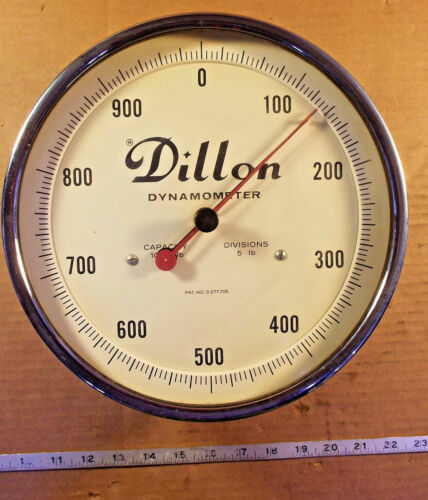 1 USED DILLON DYNAMOMETER, CAP 1000lbs, DIV 5lbs ***MAKE OFFER***