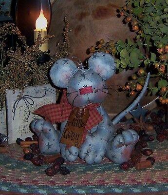 Primitive Patti's Ratties Little Quazar Mouse Ornie Doll Paper Pattern #159