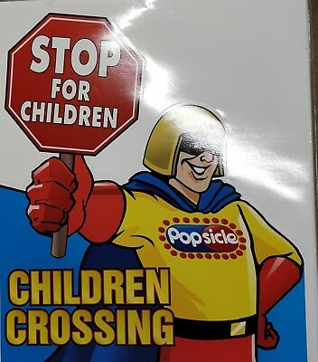 "Stop for Children Crossing - Ice Cream Truck Safety Sign Decal Sticker 20""x23.5"""