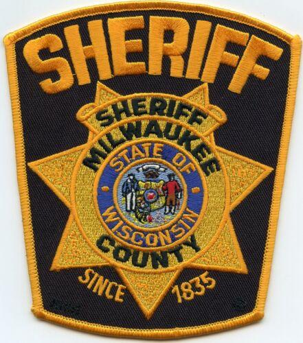 MILWAUKEE COUNTY WISCONSIN WI black background SHERIFF POLICE PATCH