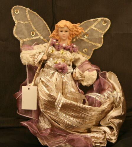 "New Kurt Adler retired 12"" silk, ribbon, and brocade angel Christmas ornament"