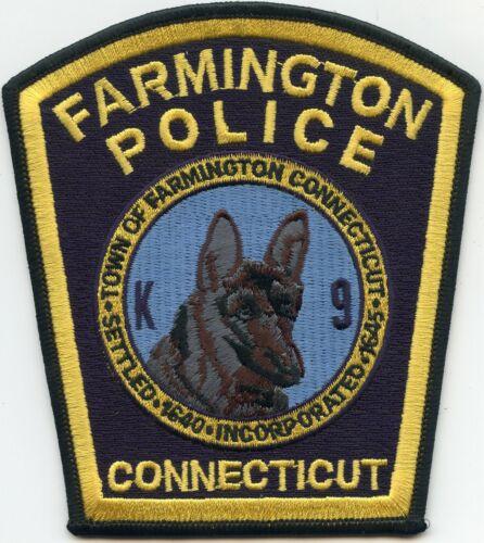 FARMINGTON CONNECTICUT CT K-9 POLICE PATCH