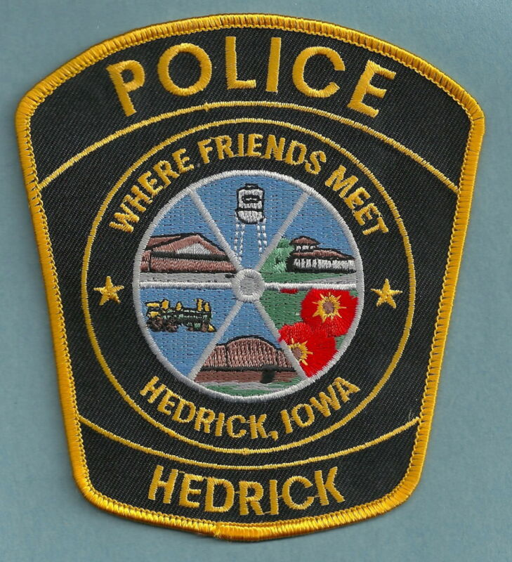HEDRICK IOWA POLICE SHOULDER PATCH NICE!