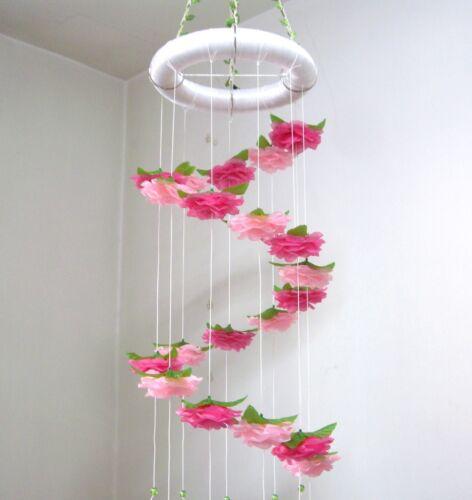 12 Color,Flower Rose Baby Mobile,Crib Nursery decor,Girl Boy,Wedding,Shower Gift