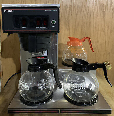 Bunn Vp17-3 Pour-over Coffee Maker 3 Warmers Includes Pots Works Great