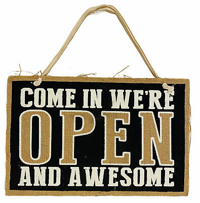 Store Shop 2 Sided Sign We Are Open And Awesomeclosed But Still Awesome 9x14