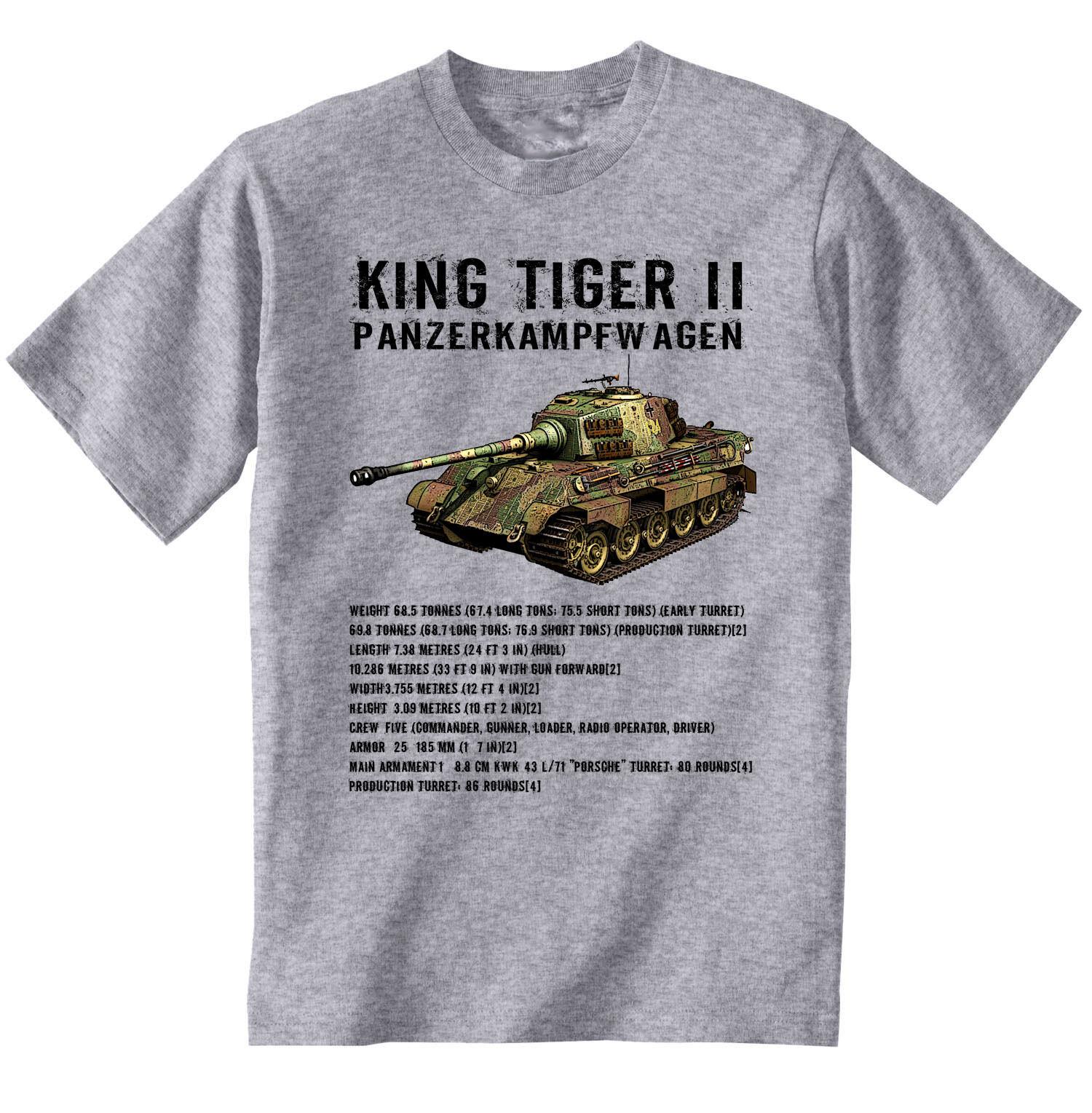 teesquare1st Mens Tiger Panzer II White Sweatshirt