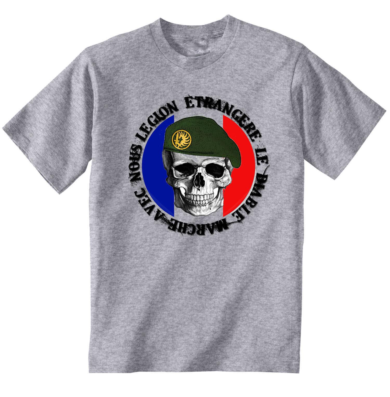 TEESQUARE1st Mens French Legion Etrangere Grey Sweatshirt