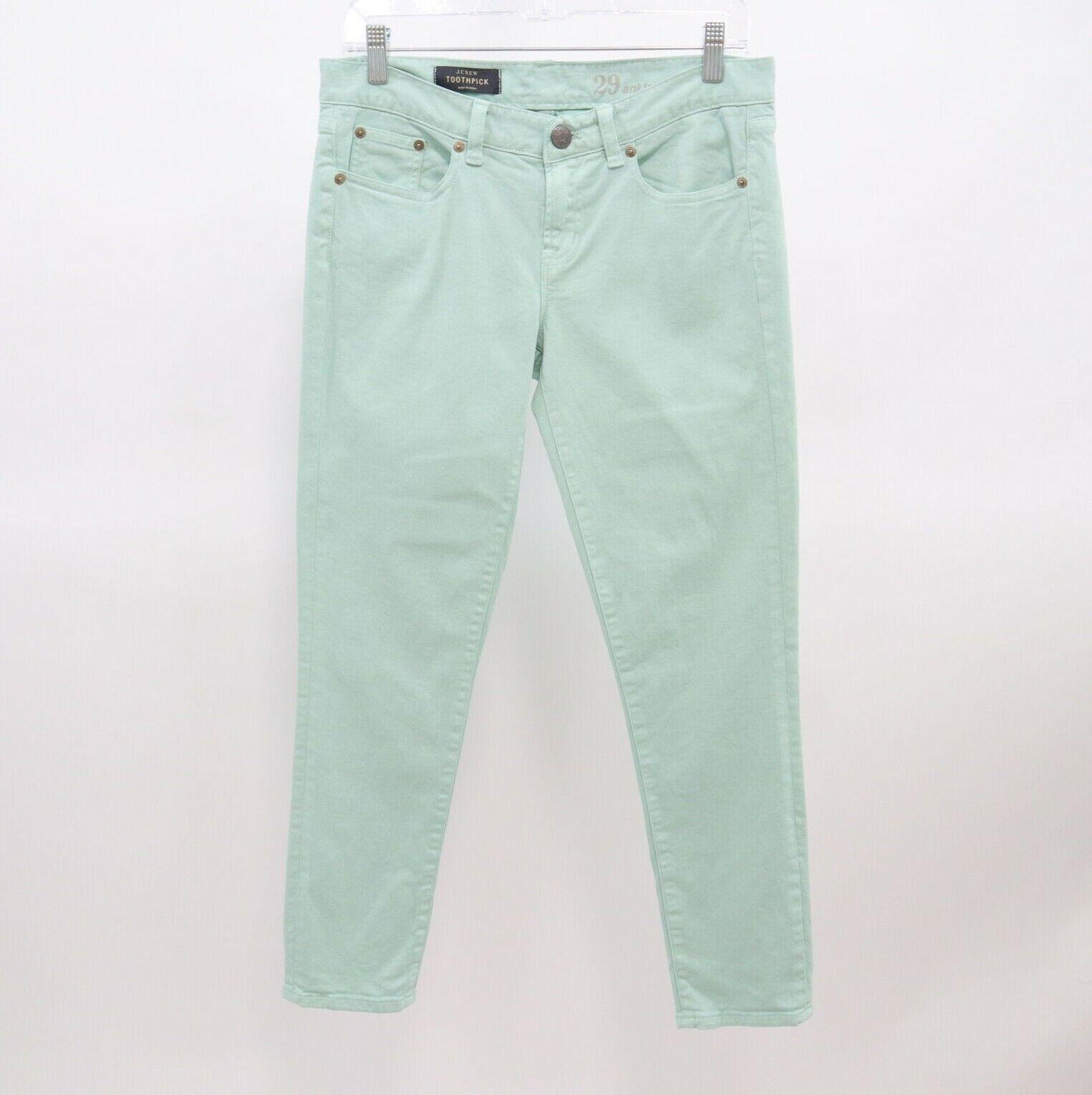 J.CREW Skinny Jeans Toothpick Ankle Womens Mint Gr