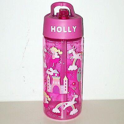 Princess Unicorn Themed Girls Personalised Water Drink Bottle