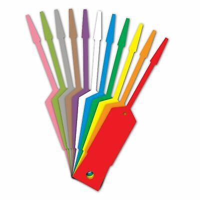 AMERICAN MADE Plastic Self Lock Arrow Key Tags You Pick Color -- Buy More & SAVE Lock Key Tag