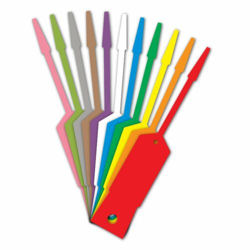 AMERICAN MADE Plastic Self Lock Arrow Key Tags You Pick Color -- Buy More & SAVE