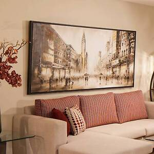 """Beautiful oil painting with black frame """"New York"""" Chatswood Willoughby Area Preview"""