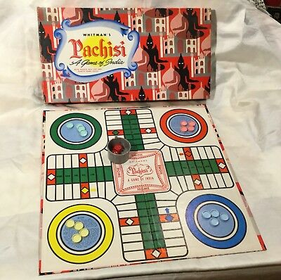 Vtg Whitmans Pachisi Game Of India Board Game MCM Exotic Graphics for sale  Yorba Linda