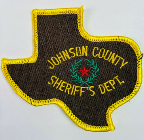 Johnson County Sheriff Texas TX State Shaped Patch A8