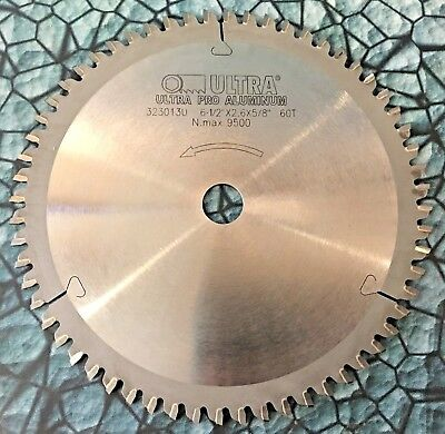 New Ultra Pro Aluminum Cut 6.5 Carbide Saw Blade 58 Arbor 60 Teeth 9500rpm