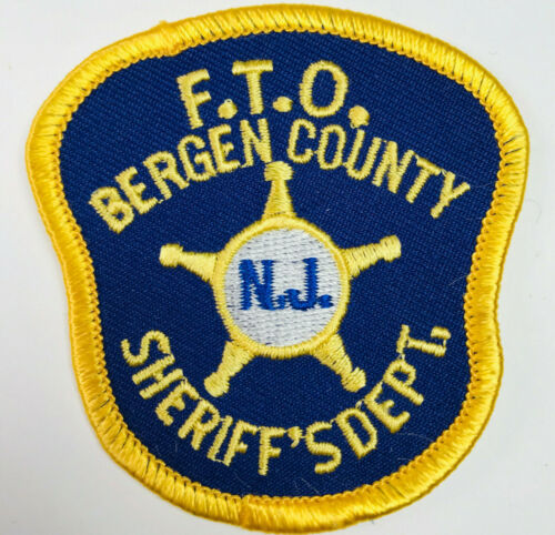 HAT SIZE Bergen County Sheriff FTO Field Training Officer New Jersey NJ Patch C1