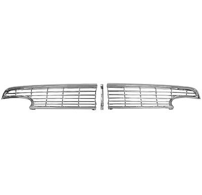1956 Ford Fairlane Grille Chrome Metal 3 PCS Set w/Hardware Dynacorn 3912