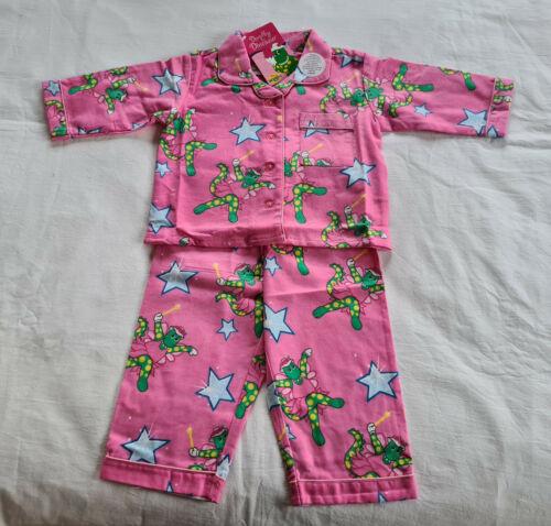 The Wiggles Dorothy The Dinosaur Girls Pink Printed Flannel Pyjama Set Size 1