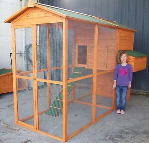 CHICKEN-COOP-RUN-WALK-IN-HEN-CHOOK-RABBIT-HOUSE-HUTCH-X-LARGE-PICK-UP-7-DAYS
