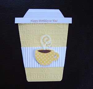 Stampin Up All Occasion Handmade Coffee Pocket Card -  Birthday, Giftcard