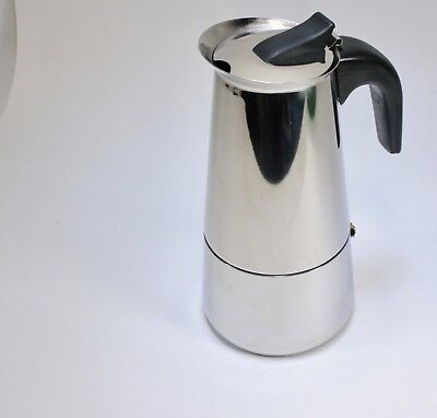 Imusa B120-22062M Stainless Steel Stovetop Espresso Coffeemaker 6 Cup-Silver
