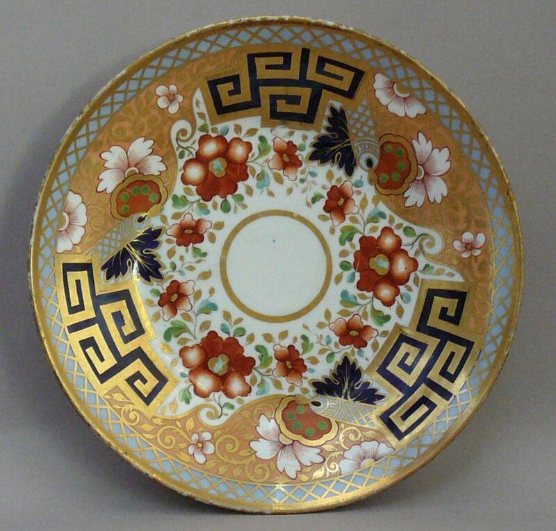 SAUCER DISH, SERVING DISH, PORCELAIN, COALPORT, Japan Pattern c.1825 Georgian