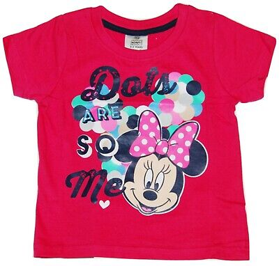 Girls Minnie Mouse T Shirt Top Disney 18 Months upto 4 Years
