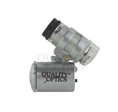 Quality Optics Illuminated Mini Microscope 2-function 60x
