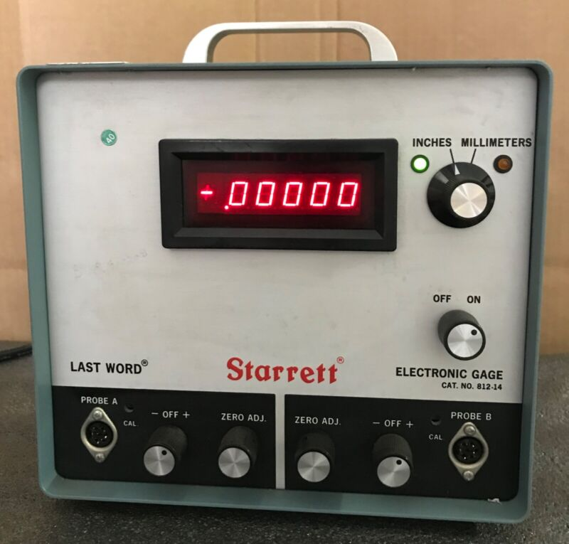 Starrett  No. 812-14 Last Word Electronic Amplifier Digital Display