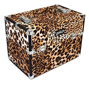 Vanity Case Beauty Makeup Box Designer Leopard Print #N0038