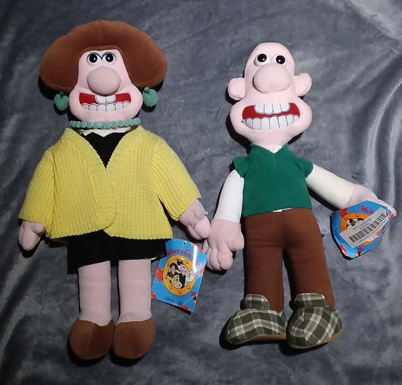 "15"" Wallace & Wendolene Wallace & Gromit Plush Toy New w/ Tags"