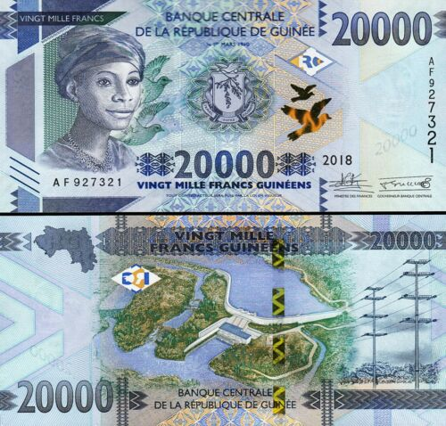Guinea 20000 Francs 2018 , UNC , P-NEW DESIGN