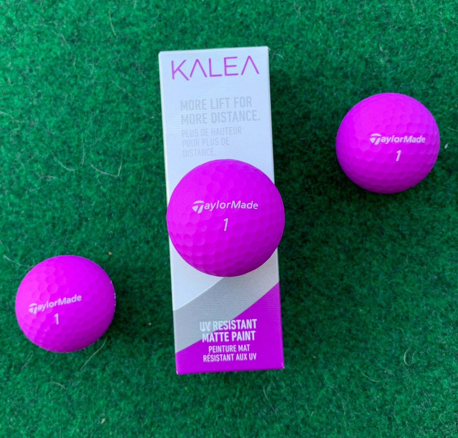 purple golf balls new 3 ball sleeve