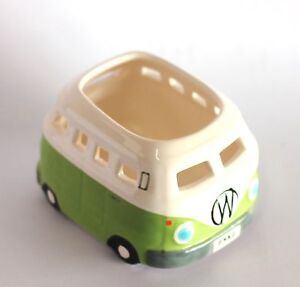 VW-Kombi-Bus-Tea-Light-Candle-Holder-Ceramic-Light-Green-Tealight-Holder