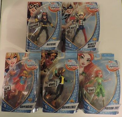 DC Super Hero Girls lot Batgirl, Bumblebee, Harley Quinn, Poison Ivy & - Bumblebee Dc