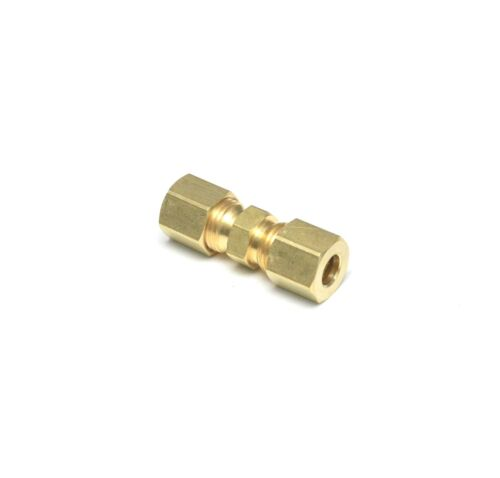 1/4 OD Compression Copper Tube Union Straight Joiner Fitting Air Gas Water