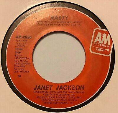 80s Soul/Dance - JANET JACKSON - Nasty - 1986 US A&M EX-