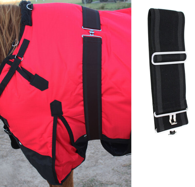 Horse Blanket Sheet Cooler Adjustable Elastic Surcingle 403EE01