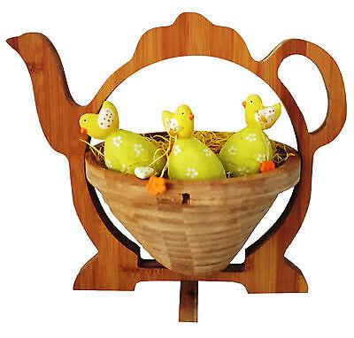 Caraffa Caffè Teiera CIOTOLA CESTINO PIEGHEVOLE CESTO 30x30cm di frutta legno